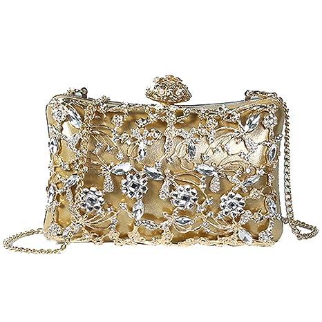Carteras De Mano - Noble Bolsa De Noche Para Damas Y Niñas - Bolso De Diamantes