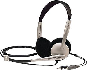 Koss CS100 Speech Recognition Computer Headset, Silver and Black