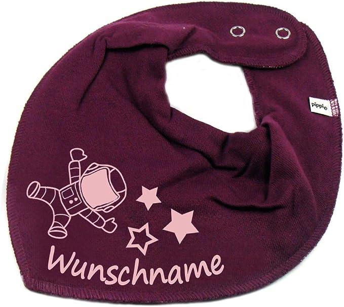 Elefantasie Halstuch Marienk/äfer Blume mit Namen oder Text personalisiert Khaki f/ür Baby oder Kind