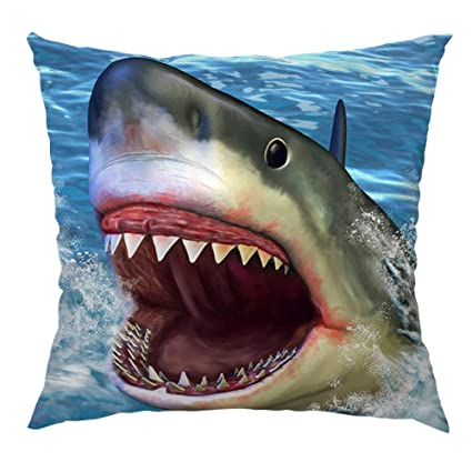 9b1cf6d1b1b1 Image Unavailable. Image not available for. Color  HGOD DESIGNS Shark  Pillow Case