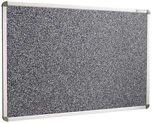 Best-Rite Rubber-Tak Tackboards, Euro Trim, 33 3/4 x 48 Inches, Black (321RC-96)