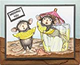 Stampendous House Mouse Cling Rubber Stamp, Lemon