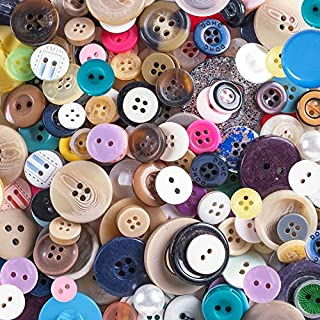 """Scrambled Assortment Bag of Buttons for Arts & Crafts, Decoration, Collections, Sewing, and More! Different Colors and Size from 3/8"""" to 1.5"""" (100 Pack)"""