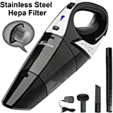 Rechargeable Cordless Handheld Vacuum Dual Purpose, Hikeren Lightweight Portable Vacuum Cleaner with 12-Volt 100W Power, Duster Busters, Stainless Steel HEPA Filter with a Carry Bag