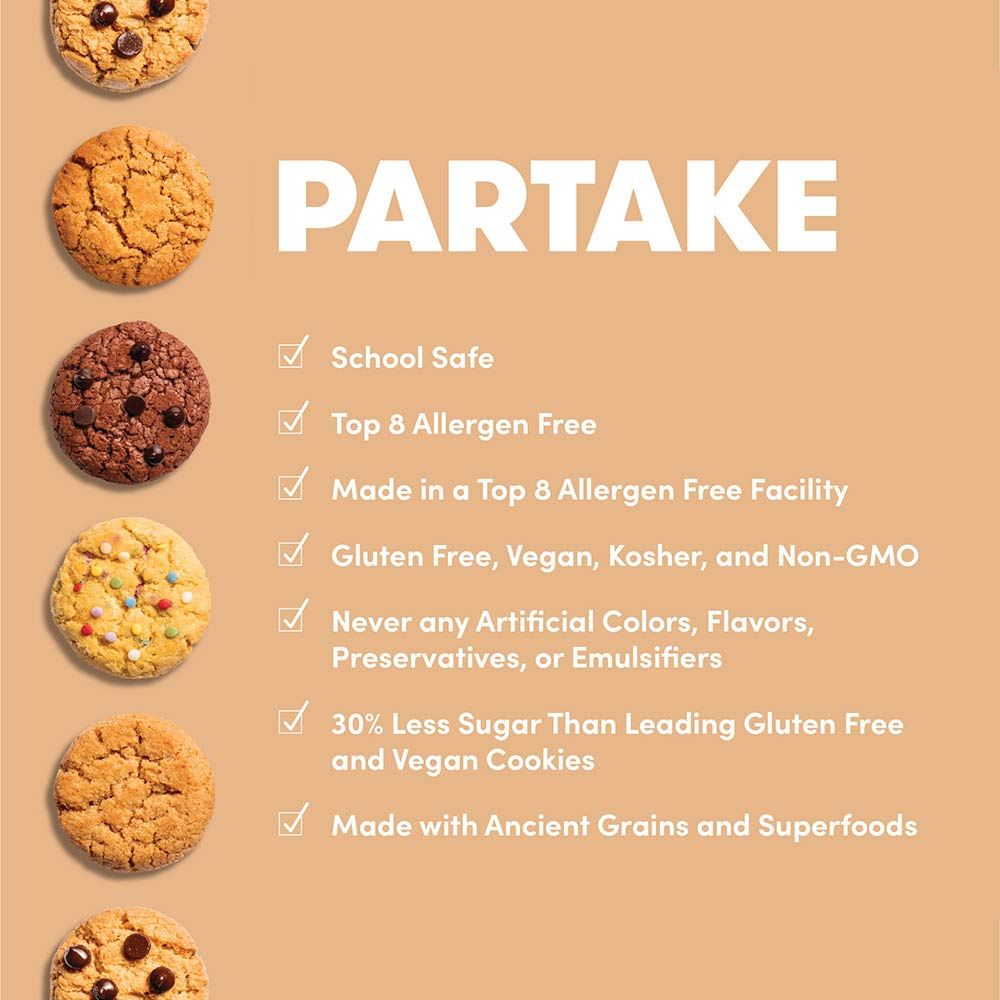Partake Crunchy Cookies - Double Chocolate Chip | 2 Boxes | Vegan & Gluten Free | Free of Top 8 Allergens | Safe for the School Yard | Tasty, ...
