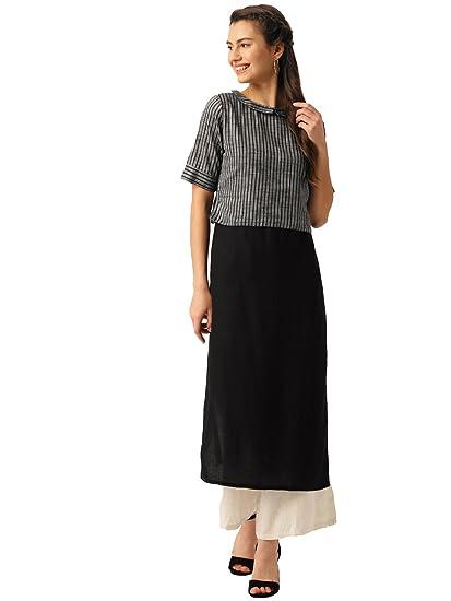 Amazon Com Desi Fusion Women Indian Casual Tunic Top Kurta