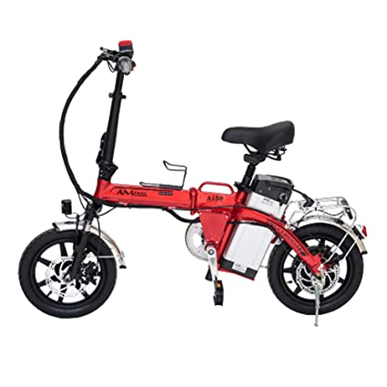 LETFF Bicicleta Eléctrica Plegable para Adultos 14 Pulgadas, 35 Km/H, Bicicleta De