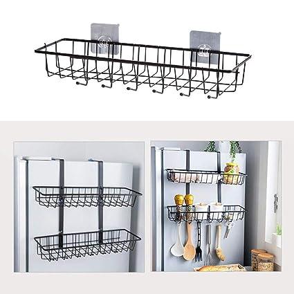 Kitchen Bathroom Shelf Wall-mounted Storage Basket Home Garden Organization Punch-free Bathroom Storage Storage Shelves & Racks