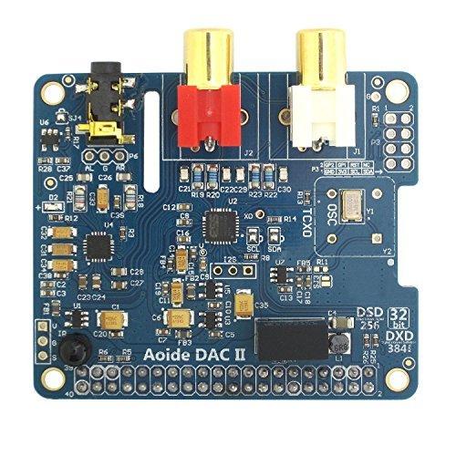 WINGONEER DAC II Hifi Sound Card   ES9018K2M   384 kHz/32-bit   High-Resolutio   DSD format supported   For Raspberry Pi 3 Model B/3B/2B by WINGONEER®