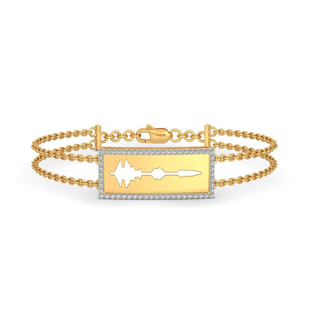 IJ| SI identification-bracelets Size 8.25 inches 18K Yellow Gold 0.336 cttw Round-Cut-Diamond