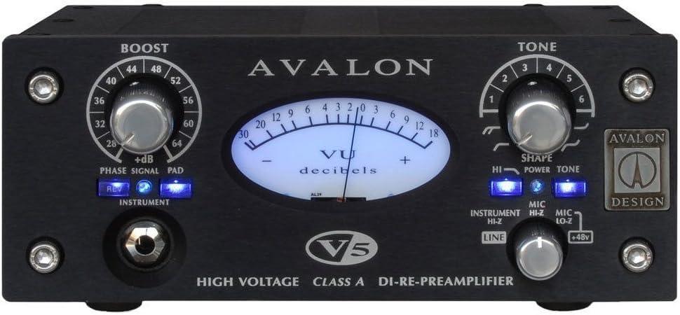Pure Class A DI-RE-Microphone Preamplifier 10 Tone-Bank EQ Black Avalon Design V5 B