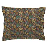 Roostery Mexico Mexican Day of The Dead Sugar Skulls Skulls Pillow Sham