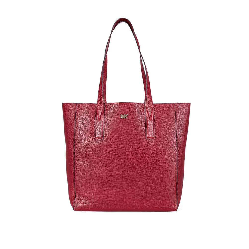 32613b4d9886e5 Michael Kors Large Junie Maroon Pebbled Leather Tote Bag Burgundy Leather:  Amazon.co.uk: Shoes & Bags