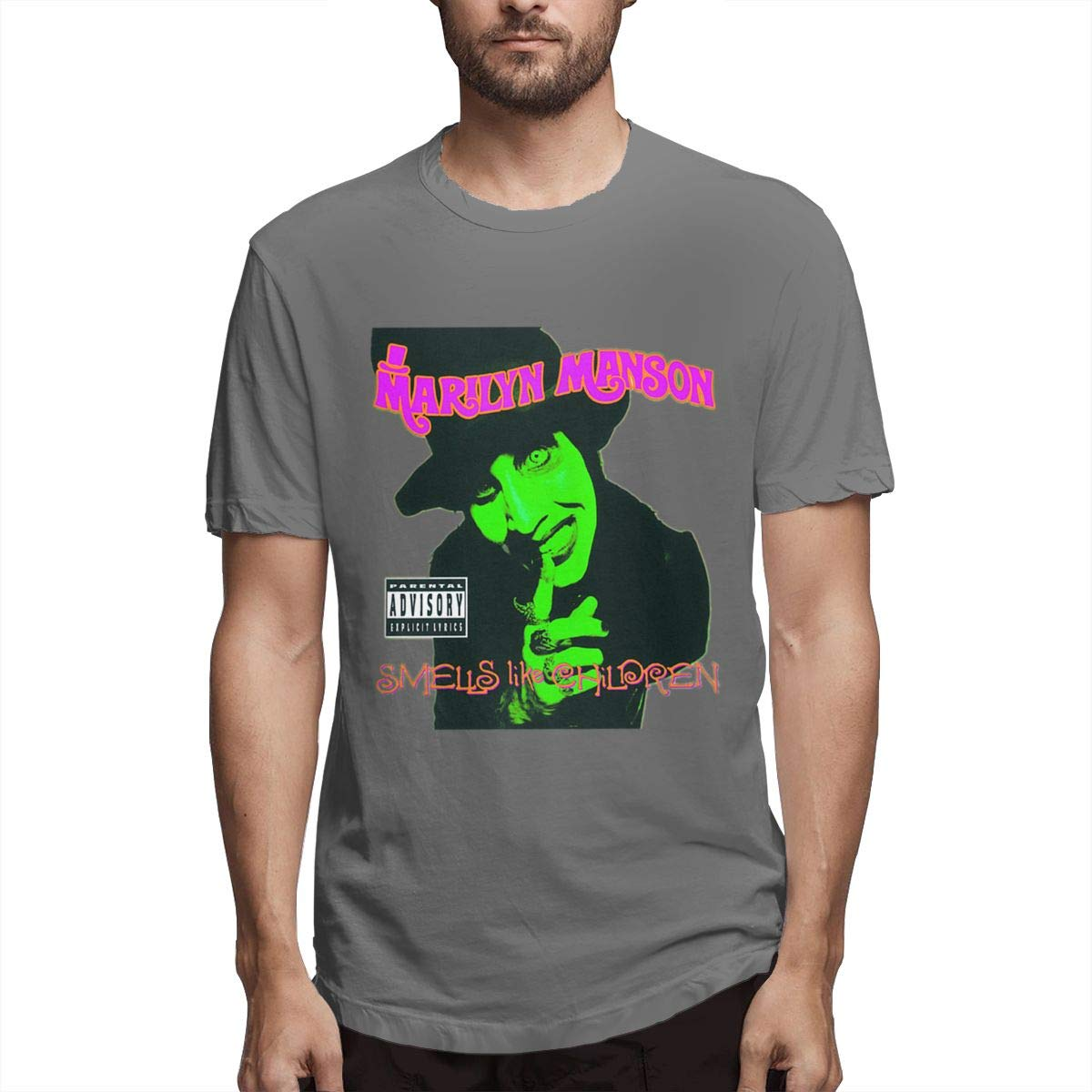 Fishoceany Wearability T-Shirts with Marilyn Manson Smells Like Children Pattern Printed