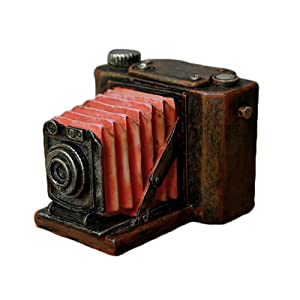 Colias Wing Home Decor Vintage Style View Camera Shape Design Coin Bank Money Saving Bank Toy Bank Cents Penny Piggy Bank-Red