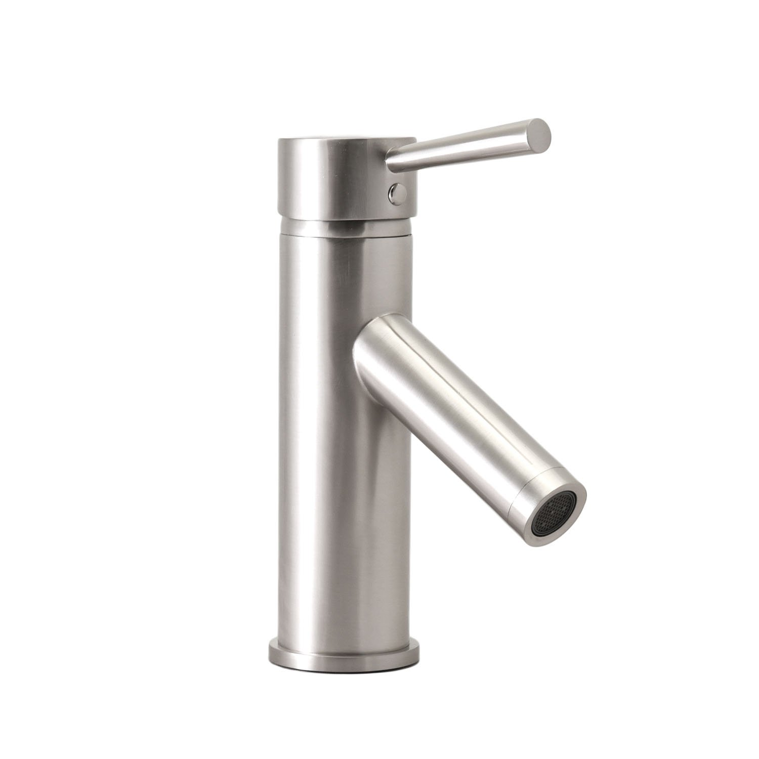 Virtu USA PS-103-BN Bathroom Faucet Single Handle, Brushed Nickel