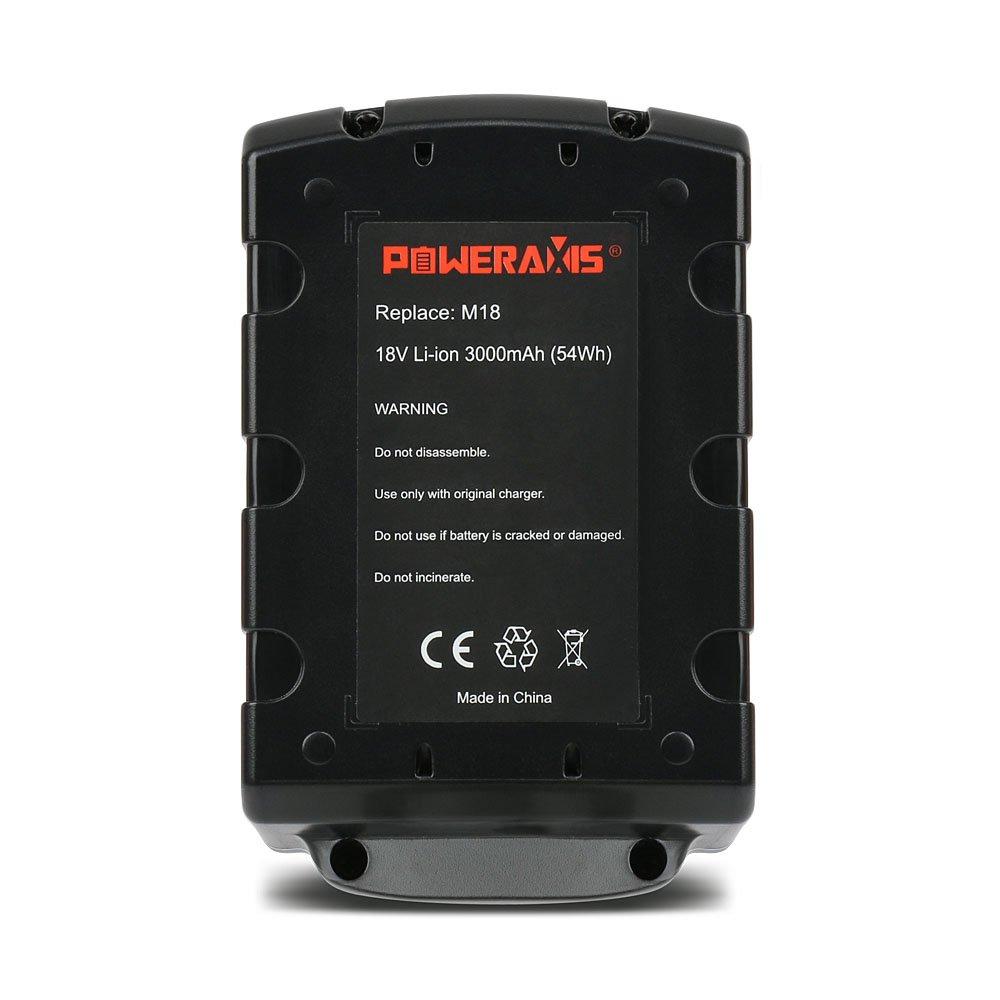POWERAXIS 9.6v 3000mAh NI-MH Sostitutiva avvitatore Batteria per Milwaukee 4932 353 638 4932 3536 38 4932 366 429 4932 3765 06 B9.6 BX 9.6 BX9.6 BXS 9.6 BXS9.6 MX9.6
