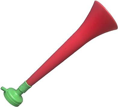 FUN FAN LINE - Pack x3 Trompetas Vuvuzela de plástico. Accesorio para fútbol y Celebraciones Deportivas. Bocina de Aire ruidosa para la animación. (Portugal): Amazon.es: Deportes y aire libre