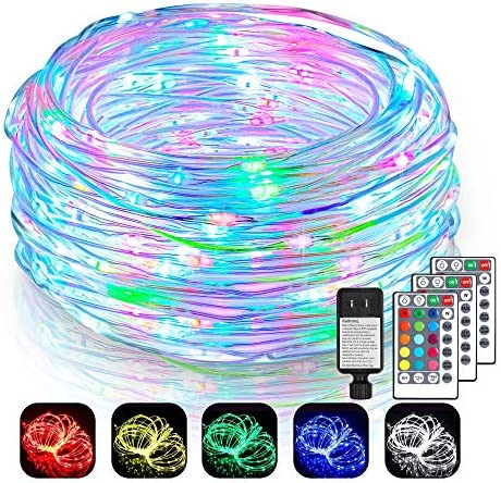 2 Pack 99Ft LED Rope Lights Outdoor, 16 Color Changing Outdoor String Lights with 300 LEDs, Remote Control Waterproof Fairy String Lights Plug in for Bedroom, Indoor, Patio, Home D cor
