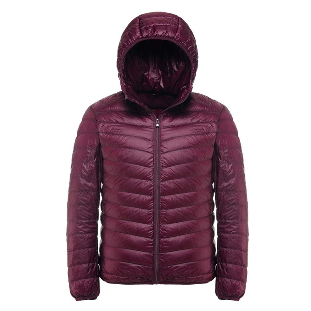 EQKWJ Duck Down Jacket Male Ultralight Hooded Coat Mens ...