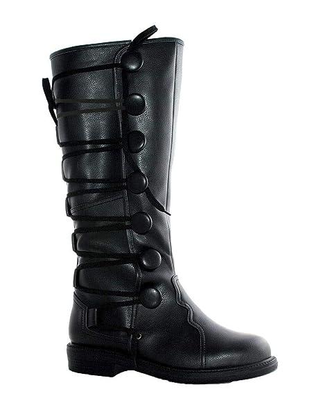 Horror-Shop botas de los hombres del Renacimiento Negro 42/43 ...