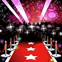GladsBuy Red Carpet 6 x 6 Computer Printed Photography Backdrop Stage Carpet Theme Background ZJZ-512