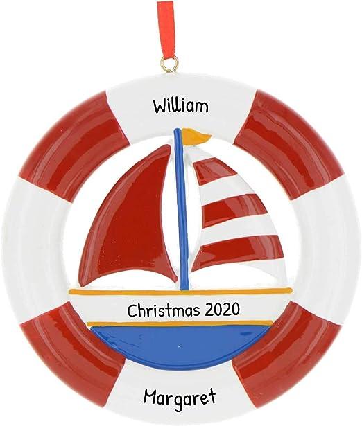 The Christmas Schooner 2020 Amazon.com: Personalized Life Ring Sailboat Christmas Tree