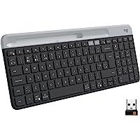 Logitech K580 Slim Wireless Multi-Device Keyboard, Black