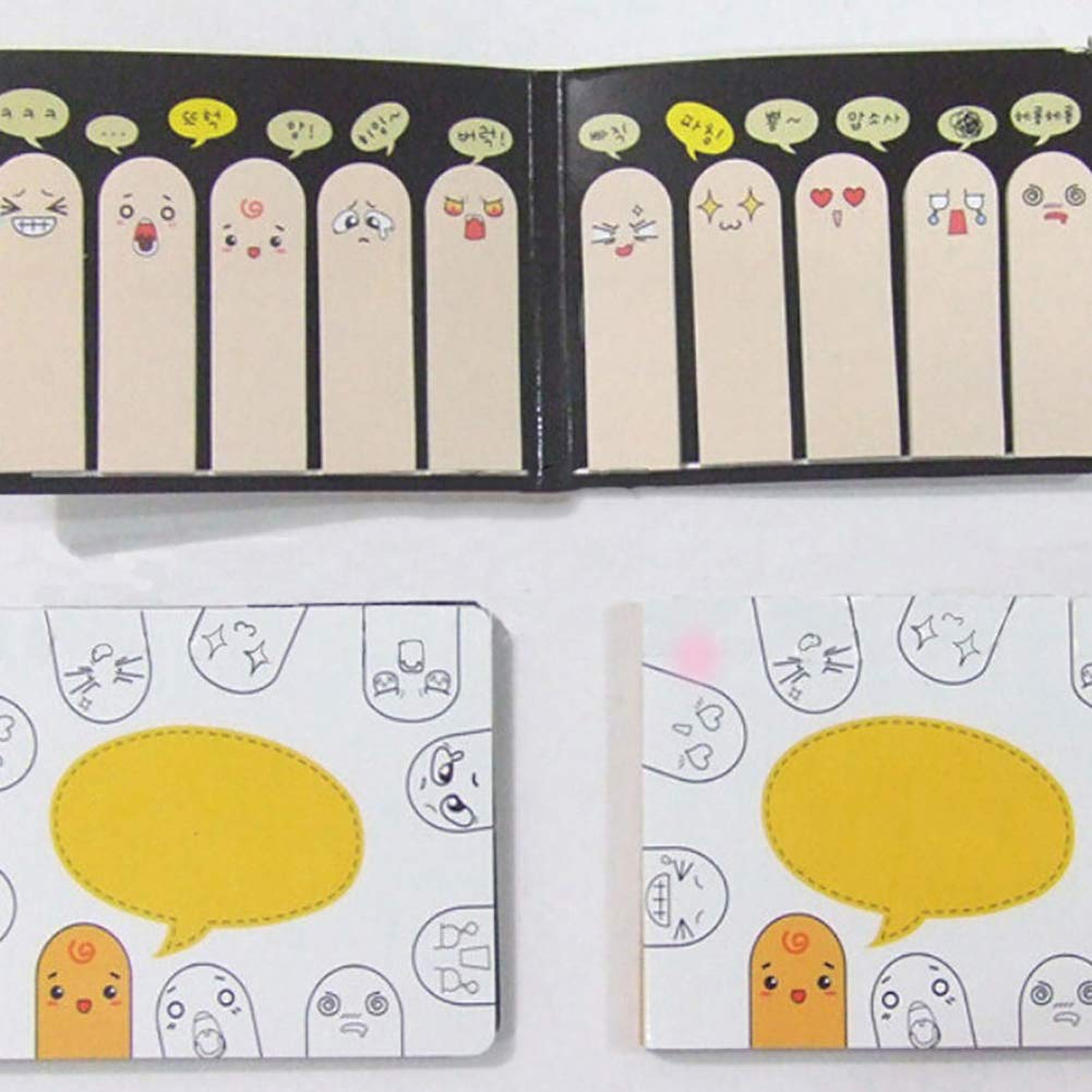 200 Pages Cute Finger Sticker Bookmarker Flags Marker Sticky Memo Notes Gift GlobalDeal