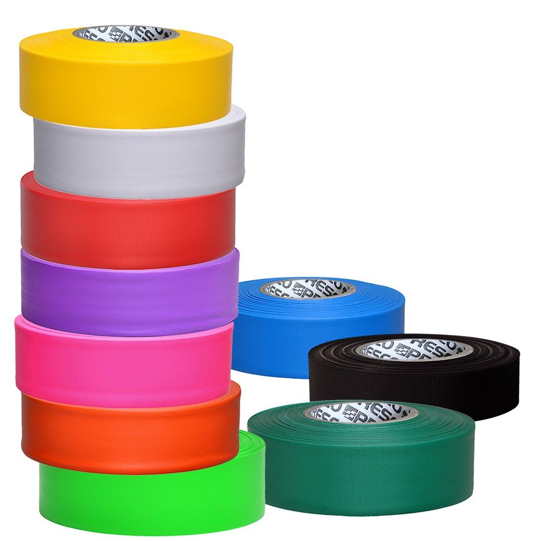 Presco Taffeta Roll Flagging Tape 1-3//16 in x 300 ft. Green