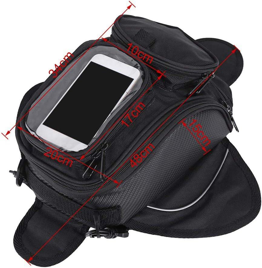 Dibiao Motorcycle Tank Bag,Black Universal Motorcycle Motorbike Riding Strong Magnetic Waterproof Oil Fuel Tank Bag