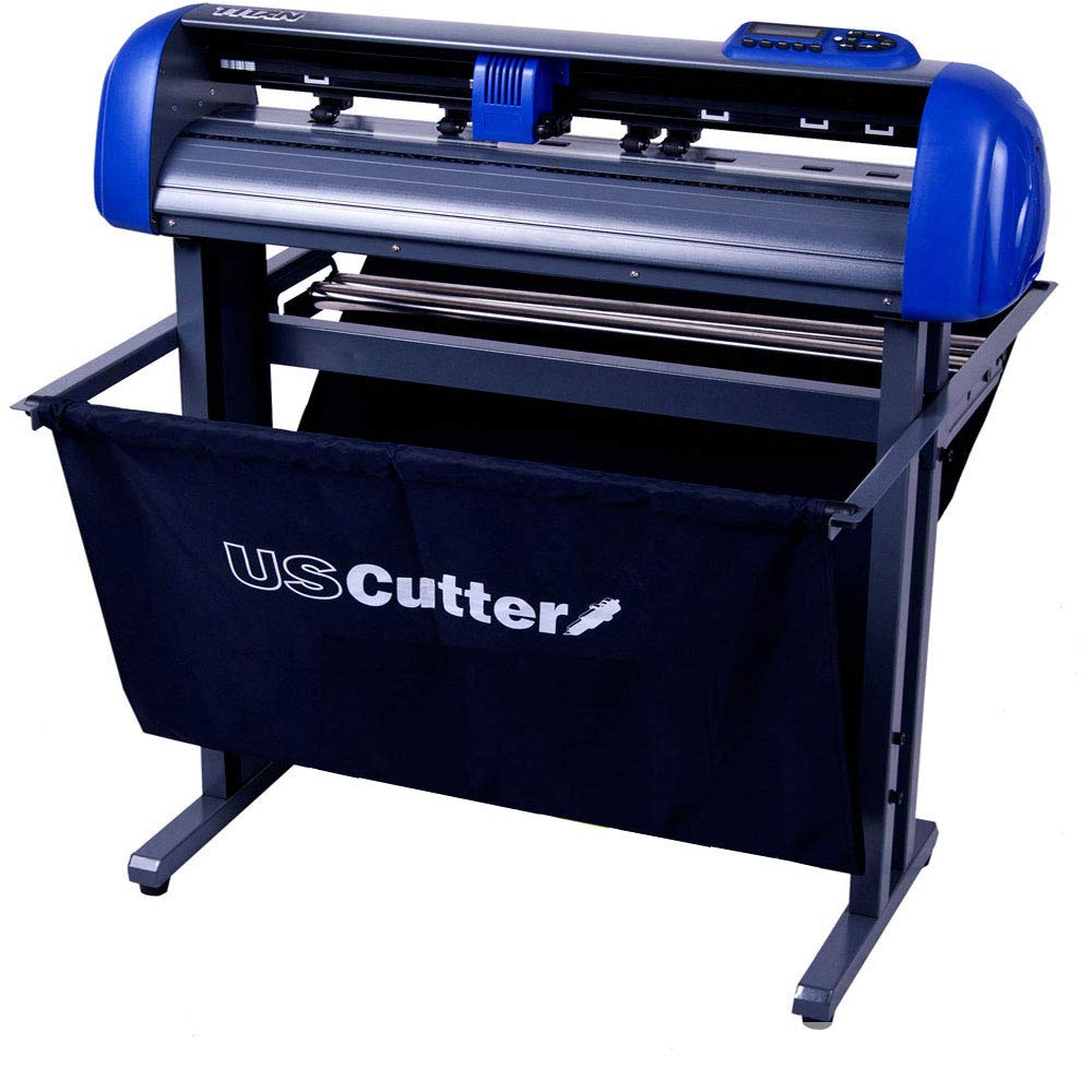 USCutter Titan 28 inch Vinyl Cutter with Stand, Basket and VinylMaster Cut (Design and Cut) Software by USCutter