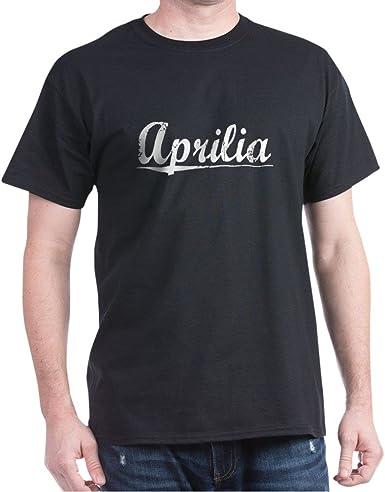 APRILIA LOGO ITALIA FAMOUS men black white t-shirt 100/% cotton graphic tee