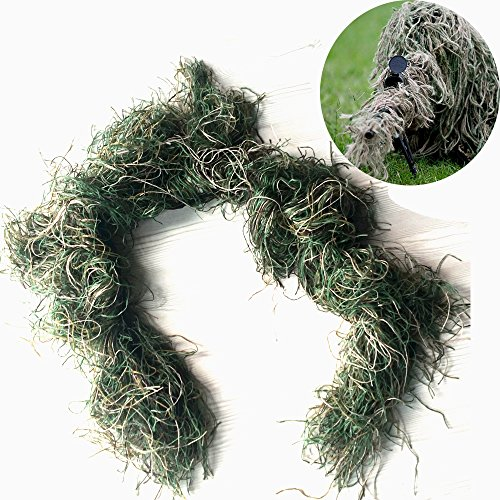 - GUGULUZA 3D Rifle Gun Wrap Cover Use Elastic Strap for Camouflage Forest Hunting Ghillie Suit