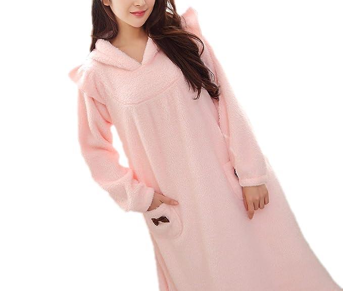 Falda Para Dormir De Mujer Falda Para Dormir De Invierno Otoño Invierno Manga Larga Pijamas Más