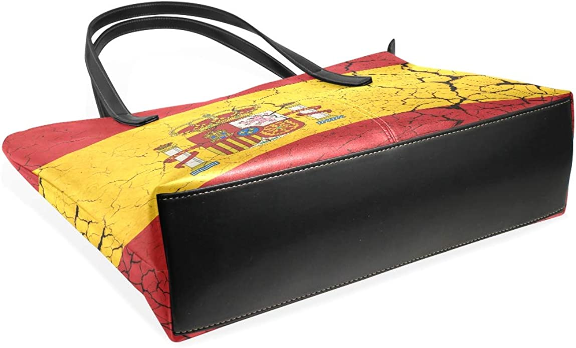 AMONKA Bandera de España con emblema de moda bolso de cuero bolso de hombro bolsos para mujeres niñas: Amazon.es: Zapatos y complementos