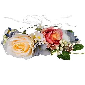 Amazon.com: Shirley Floral corona de pelo accesorio para la ...