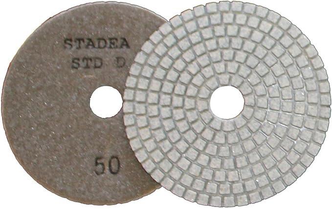 Pack of 2 Shop N Save Diamond Tools Stadea 4 PPW136B Diamond Polishing Pads Grit 6000 Wet for Concrete Travertine Marble Terrazzo Glass Granite Stone Polishing