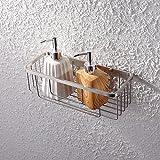 KES SOLID SUS 304 Stainless Steel Shower Caddy Bath Basket Storage Shelf Hanging Organizer Rustproof Wall Mount, Brushed Finish, BSC206-2