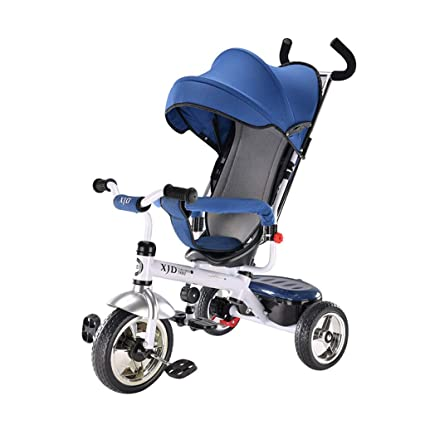 3 en 1 Carro de bebé de 3 Ruedas Bebé Bicicleta Ruedas de Goma Bicicleta Multifunción