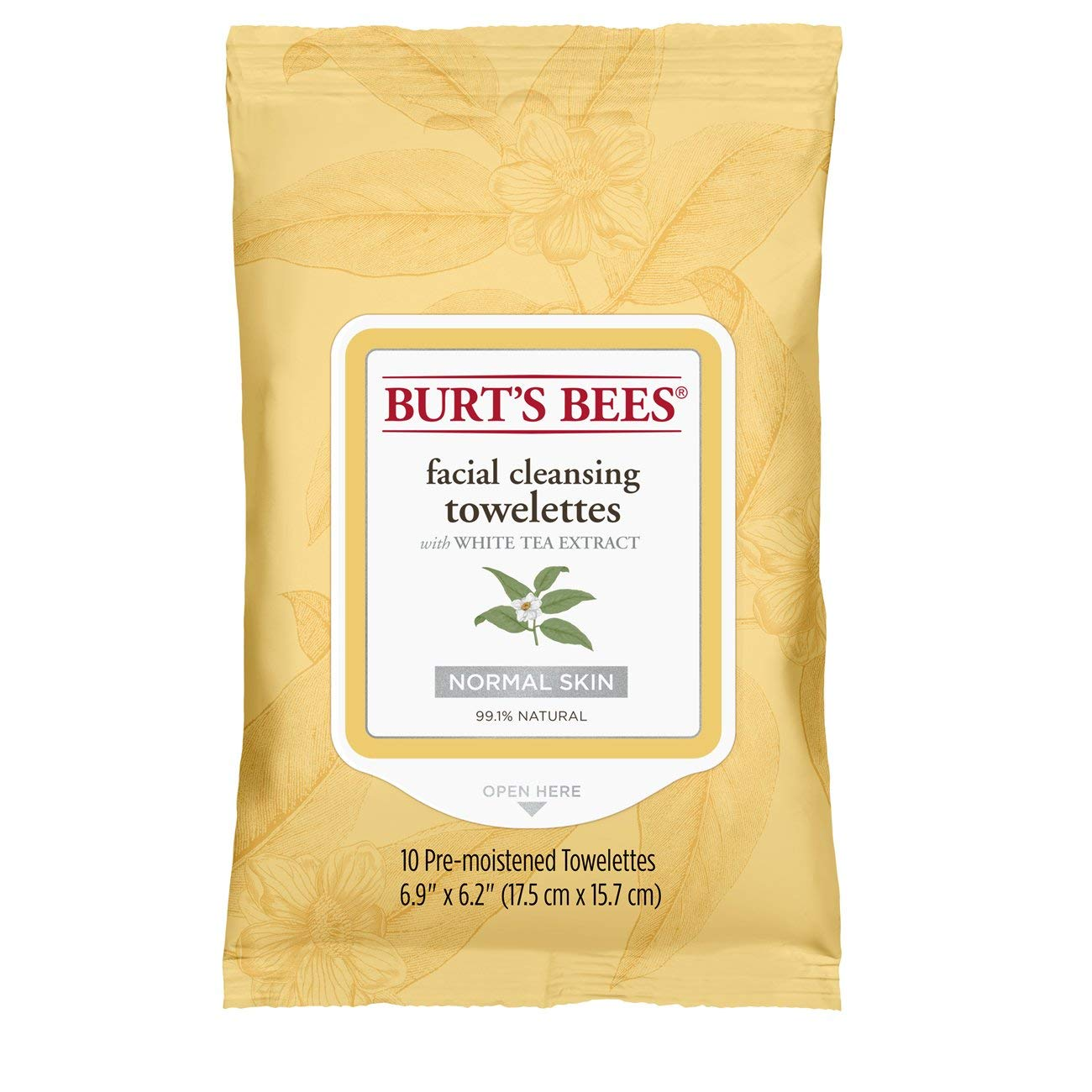 Burt's Bees Facial Cleansing Towelettes with White Tea Extract, 10 count Burt's Bees