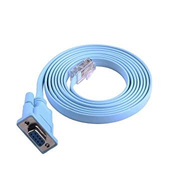 6FT, DB9 Switches and Firewall Equipment,DB9 to RJ45 RS232 Console Cable Network Equipment Console Cable for Cisco Routers