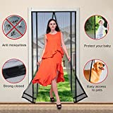 Magnetic Screen Door, Cozime Premium Quality Full Frame Velcro with Reinforced Heavy Duty Magnets and Mesh Curtain Keeps Bugs & Mosquitoes Out, Toddler And Pet Friendly, Fits Door Up To 36x82 Inch