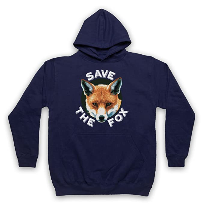 Save The Fox Protest Adultos Sudadera con Capucha: Amazon.es: Ropa y accesorios