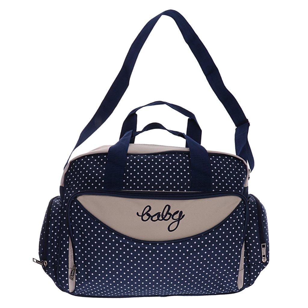 Baoblaze Waterproof Maternity Shoulder Tote Baby Nappy Diaper Yummy Mummy Bag Handbag - Navy, Small