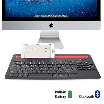 GMYLE® Bluetooth Teclado Con acoplamiento y Touch Pad para ordenadores, tablets y smartphones