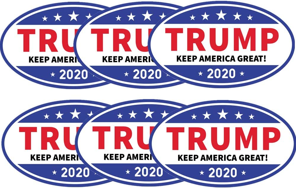 kortes6 PackDonald Trump Magnet for 2020 President United States, Trump Magnetic Bumper Sticker for Patriot and Election Time, Stick on Cars, Refrigerator Etc- Keep America Great, 6 X 3.5 Inch