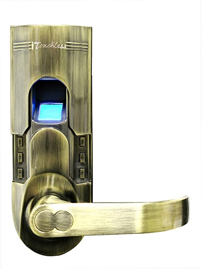 Charmant ITouchless Bio Matic Fingerprint Door Lock, Antique Brass, Right Handle