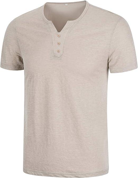 KTWOLEN Homme Poids léger T-Shirt À Manches