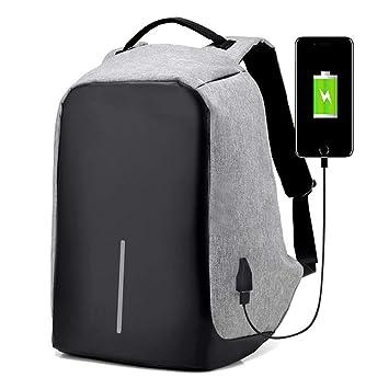 WUZHI Mochilas para Portátiles con Puerto De Carga USB Portátil Antirrobo Bolsas para Laptop Se Ajusta A Un Portátil De 15,6 Pulgadas para Mujeres Hombres ...